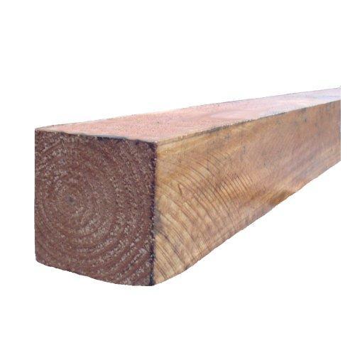 3''x3'' Brown Timber Post - 6'