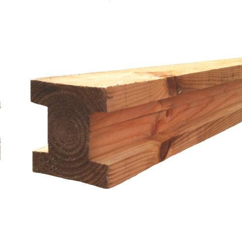 4x4 Brown Timber Slotted Post - 8'