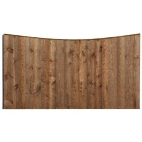 Concave Feather Edge Fence Panel - 6'x3'