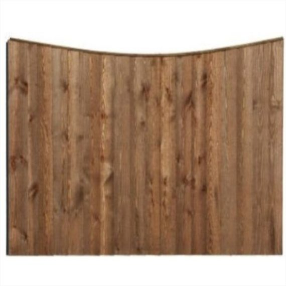 Concave Feather Edge Fence Panel - 6'x6'