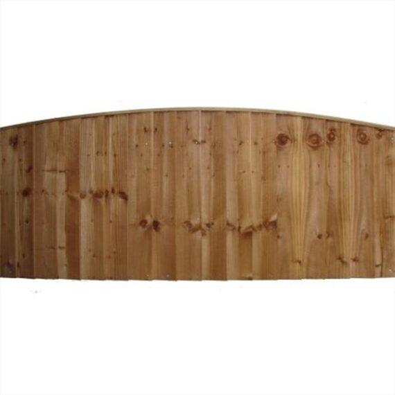 Convex Feather Edge Fence Panel - 6'x2'