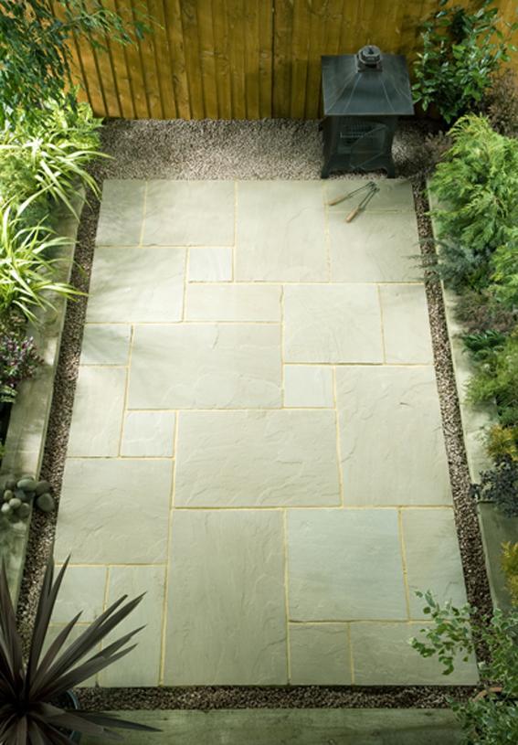 Natural Stone Paving - Raj Green
