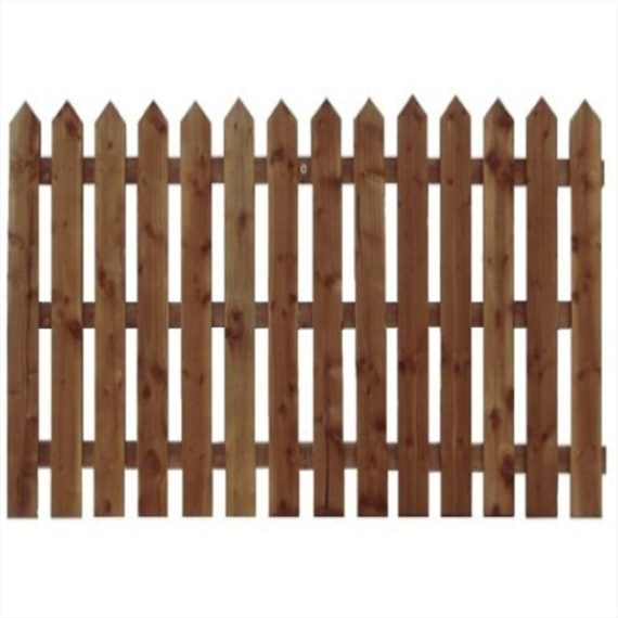 Pointed Top Picket Fence Panel - 6'x5'