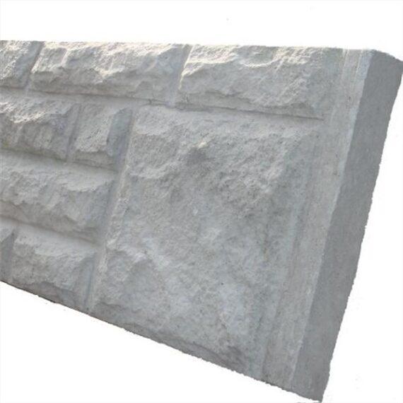 Rock Face Concrete Gravel Board - 6'x1'