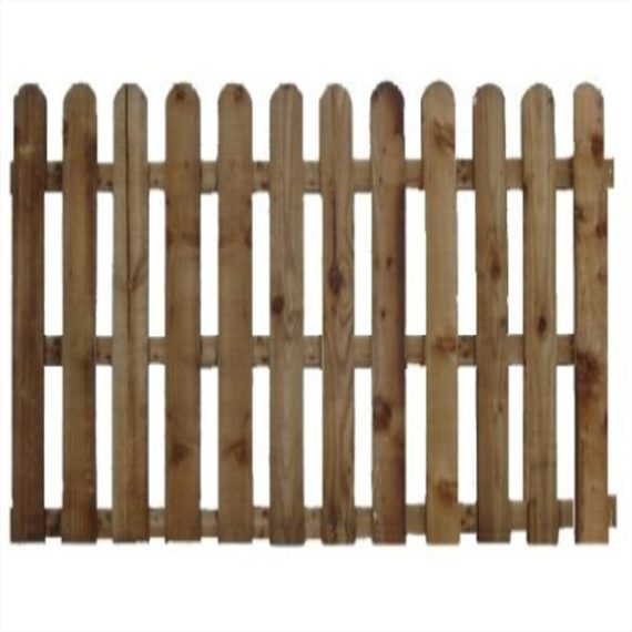Round Top Picket Fence Panel - 6'x6'