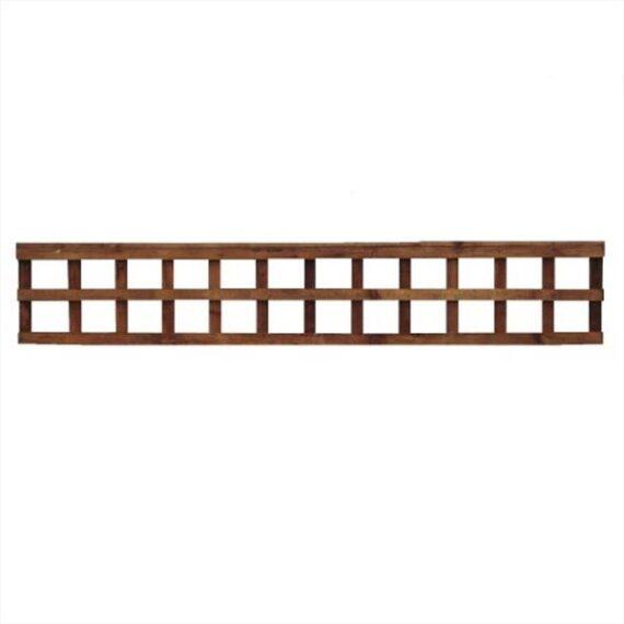 Square Trellis Fence Panel - 6'x1'
