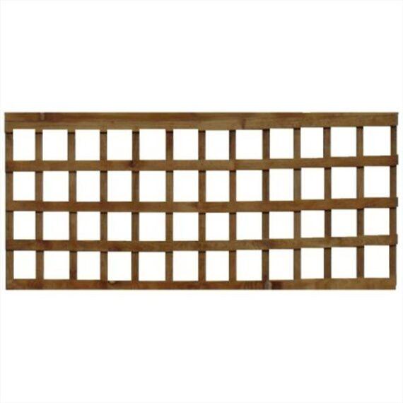 Square Trellis Fence Panel - 6'x2'
