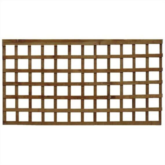 Square Trellis Fence Panel - 6'x3'