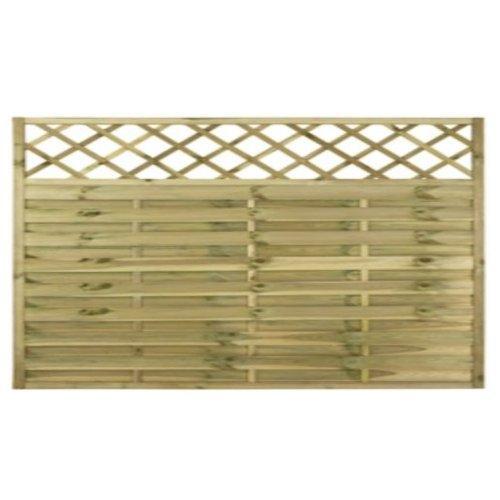 Surrey Flat Fence Panel - 6'x3'