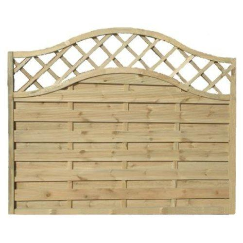 Sussex Wave Fence Panel - 6'x6'
