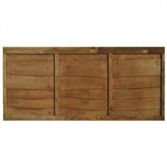 Waney Lap Fence Panel - 6'x2'