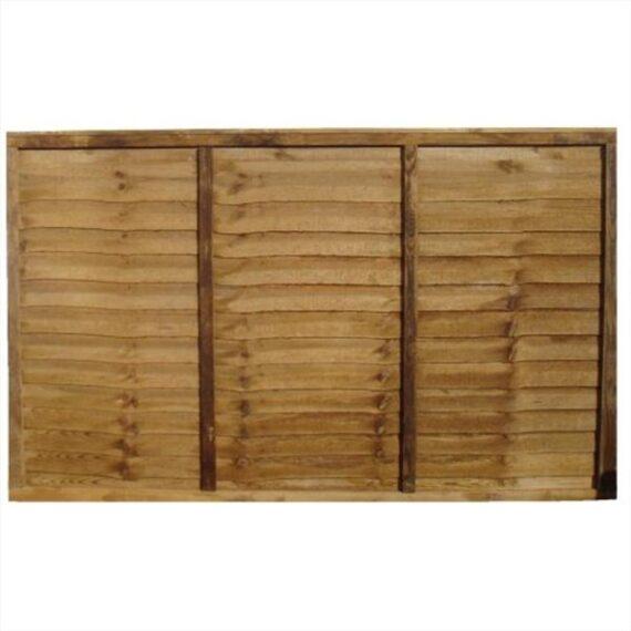 Waney Lap Fence Panel - 6'x4'