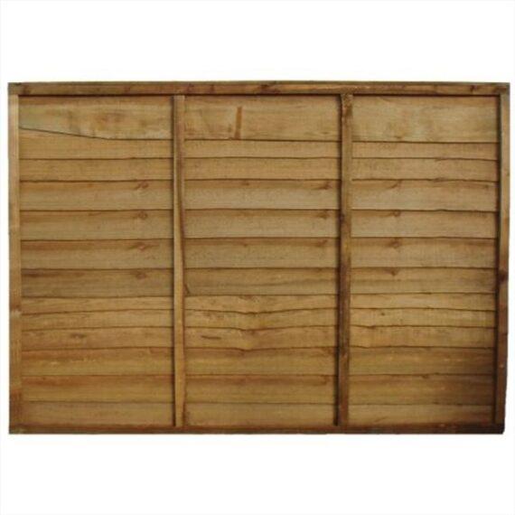 Waney Lap Fence Panel - 6'x6'