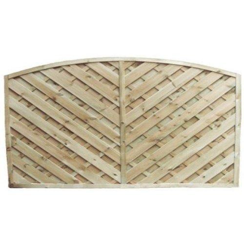 York Arch Fence Panel - 6'x3'
