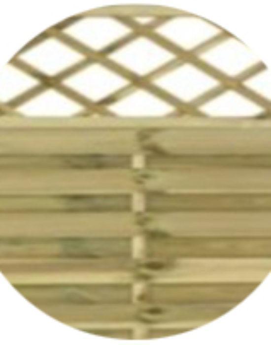 Surrey Flat Fence Panel